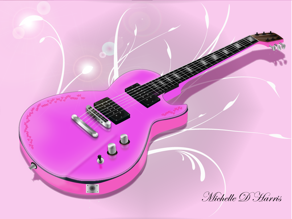 wallpaper music guitar pink - photo #15