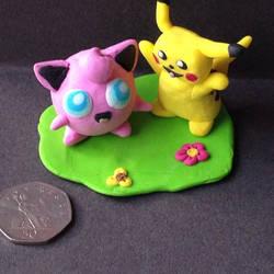 Pikachuandjigglypuff by michelledh