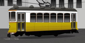 A Tram - Lisbon Portugal