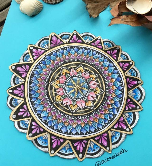 Hand drawn Mandala by michelledh
