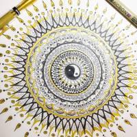 Black and gold Mandala