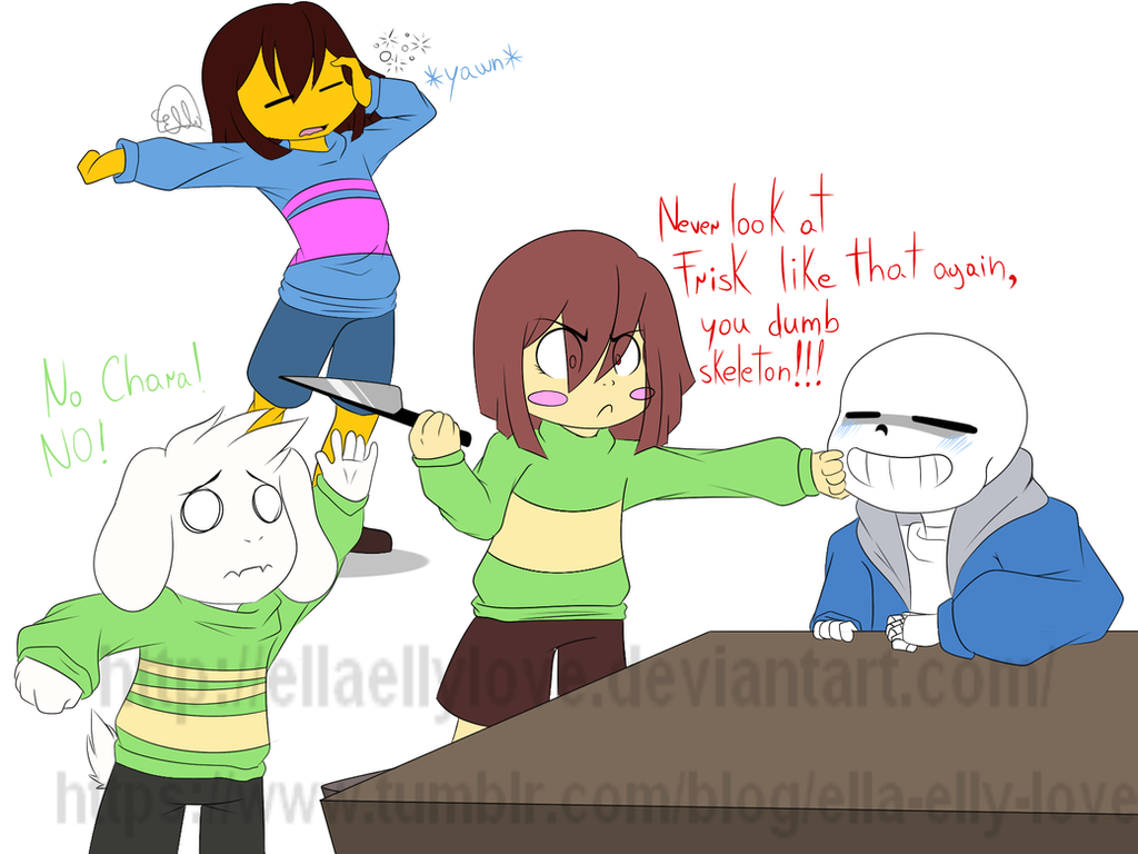 sans x chara fanfiction