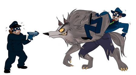 The Blue Morpho and Kano Vs. Werewolf