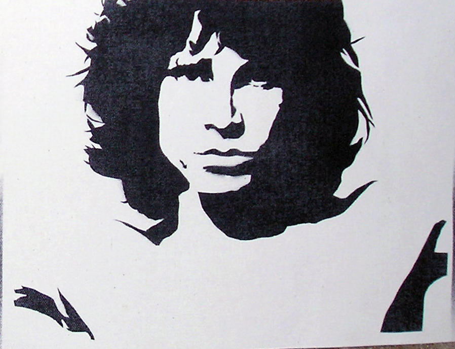 Jim Morrison The Doors Stencil Jim on a whim by paulieslimThe Doors Stencil