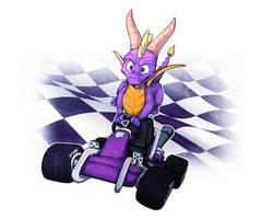 Spyro in CTR: Nitro Fueled!