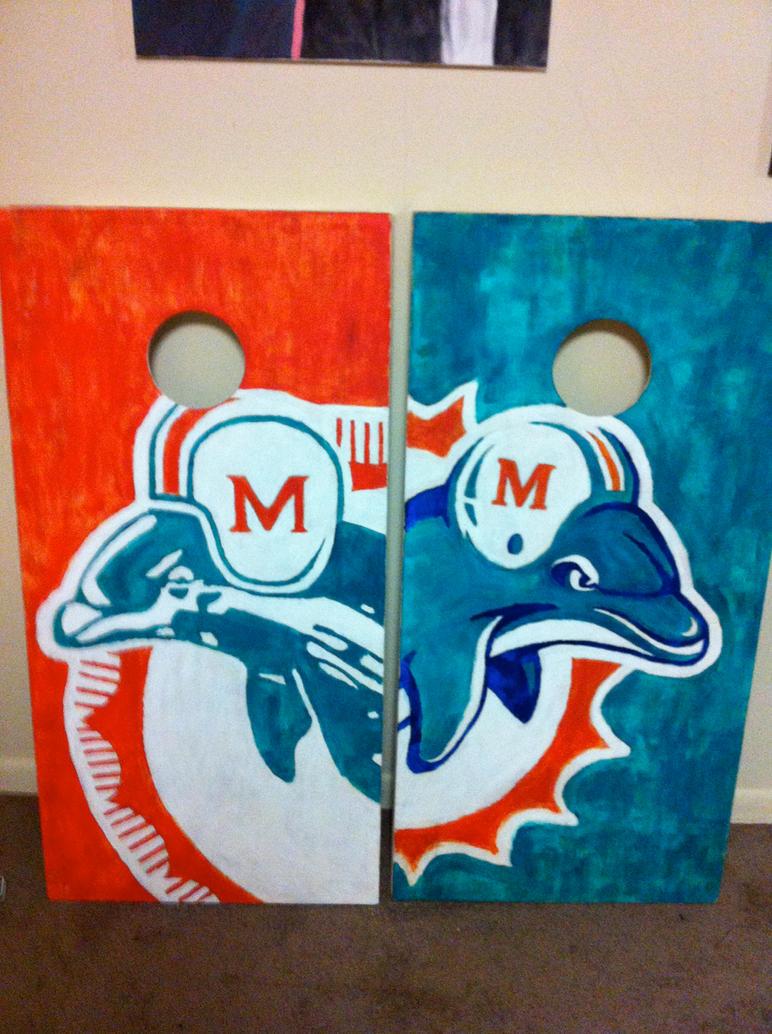 Miami dolphins cornhole set by nova the mind on deviantart miami dolphins cornhole set by nova the mind voltagebd Gallery