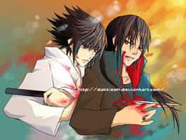 Sasuke n Itachi from Naruto by dakkisoh