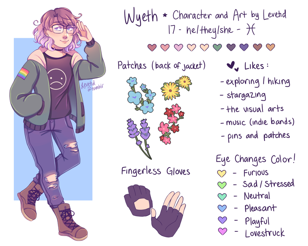 OC Reference Sheet: Wyeth by Levetid
