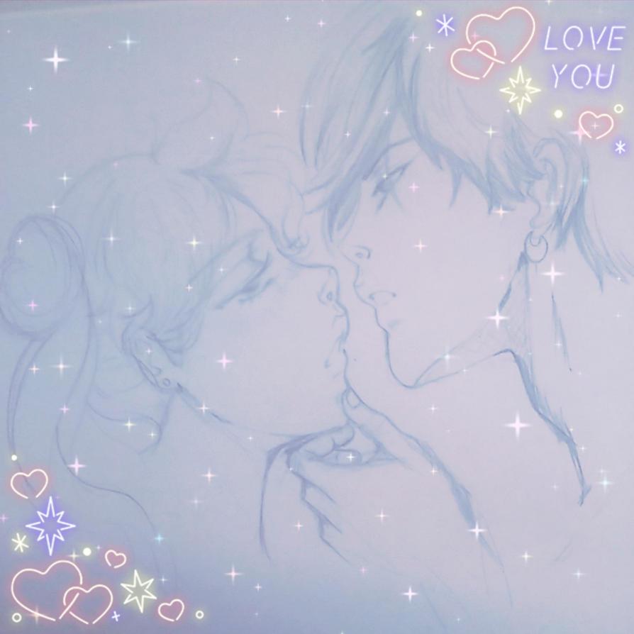 Seiya+Usagi:..Please be mine.. by Beloved-Star