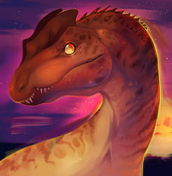 Dilophosaurus by mrstwiggles