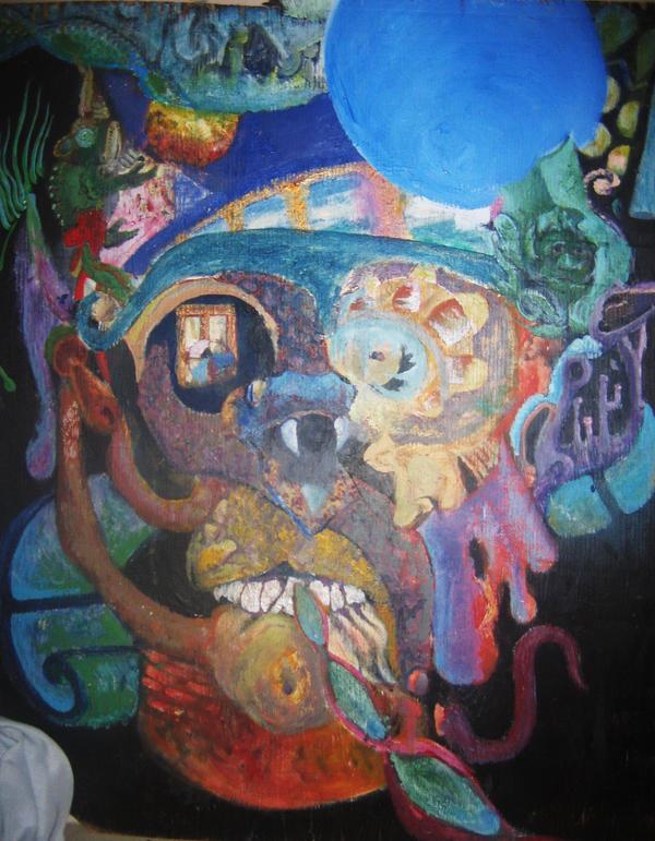psychedelic demon face by ravendiamond on deviantart