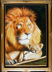 Lion and Cub by SoulRebel9