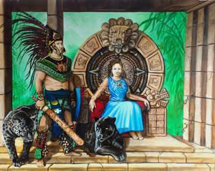 Aztec Portrait by SoulRebel9