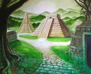 Aztec Pyramids by SoulRebel9