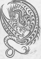 dragon tribal by fantasi-dragen