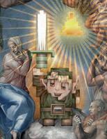 Legend of Zelda - 8Bit Link by jimiyo