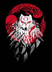 Okami Wolf II by jimiyo