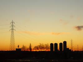 tramonto sulle costruzioni by alecarote