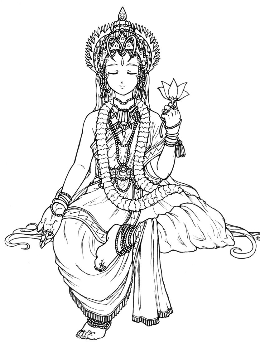 Line Art Hindu Gods : Hindu belldandy lineart by artistmeli on deviantart