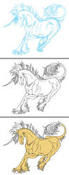 Unicorn Progression by ArtistMeli