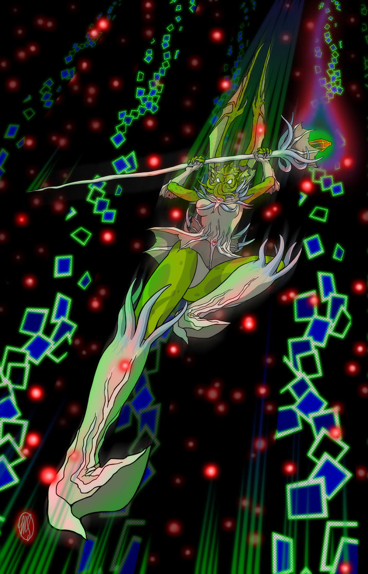 Sailor Cthulhu KICK by ArtistMeli