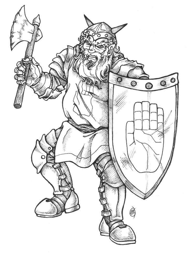 dwarven warrior by artistmeli on deviantart
