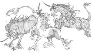 Unicorn Frolic by ArtistMeli