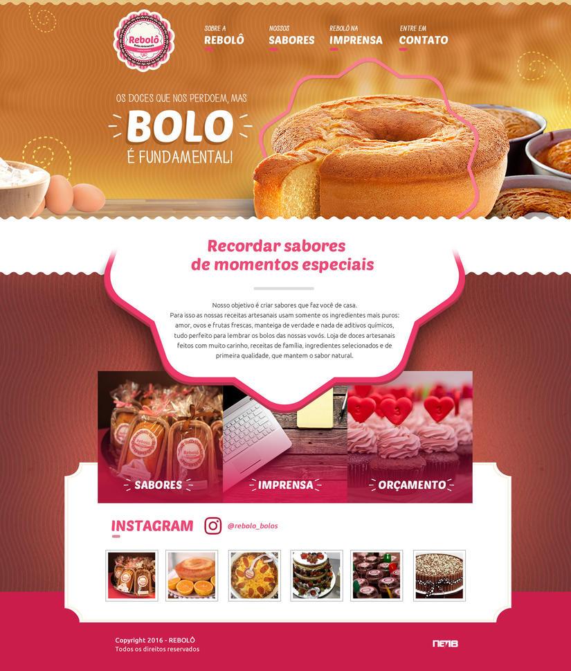 Rebolo - Bolos Artesanais by thdweb