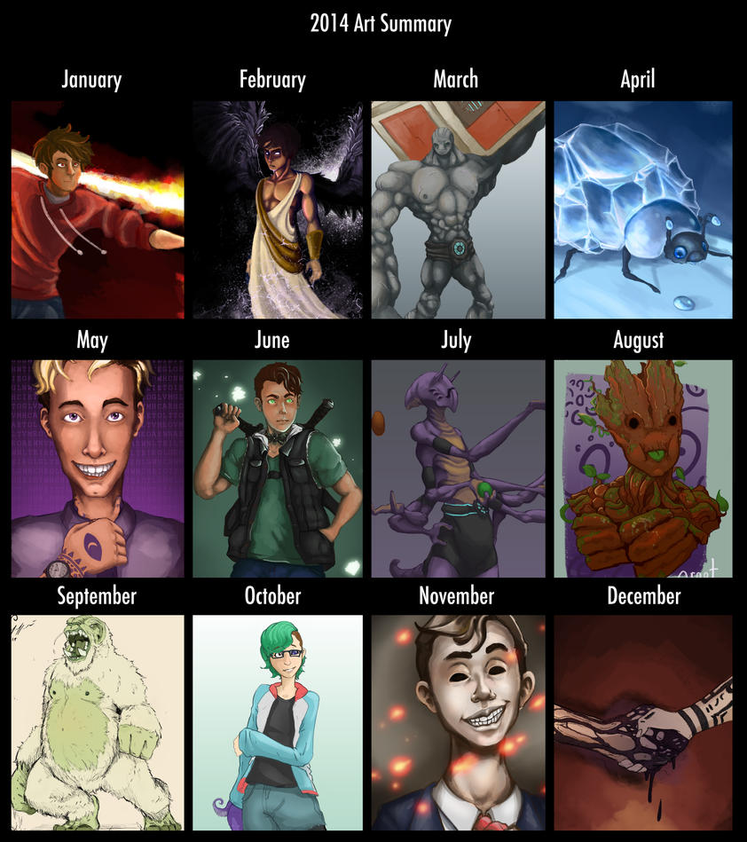 2014 Art Summary by TopHatTruffles