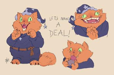 Garfield the Deals Warlock by VincenzoNova