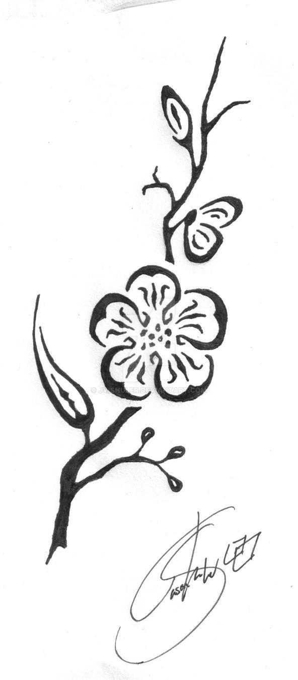 Tribal cherry blossom by jwshuler on deviantart for Tribal tattoo shops near me