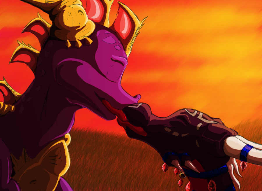 Spyro and Cynder, in COLOR by CharlesFrost on DeviantArt