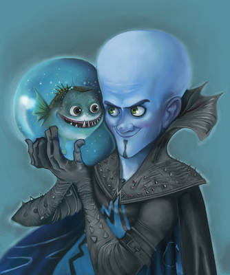 megamind and minion by Leen-galeas