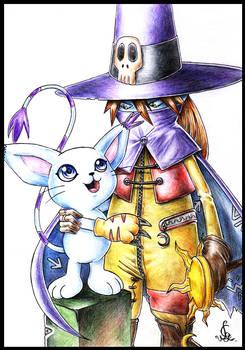 Wizardmon and Gatomon