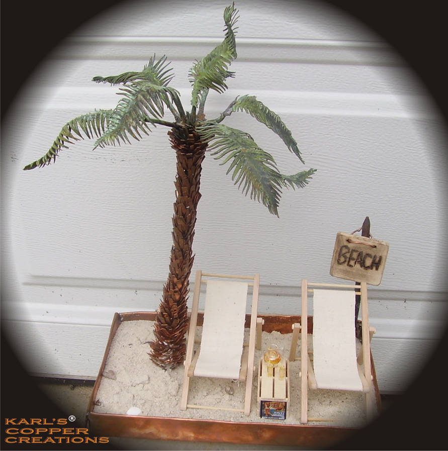 Copper Palm Tree Handmade10 By Karlscoppercreations