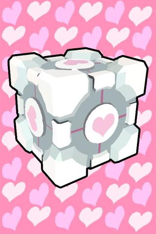 Companion Cube wallpaper - JS by JenniMGF