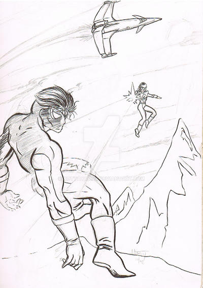 Mountain Fight by KottaYarou