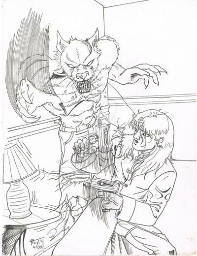 Street Sam V Werewolf by KottaYarou
