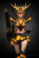 2012 08 GundamGirl Banshee / Normal by Haje714