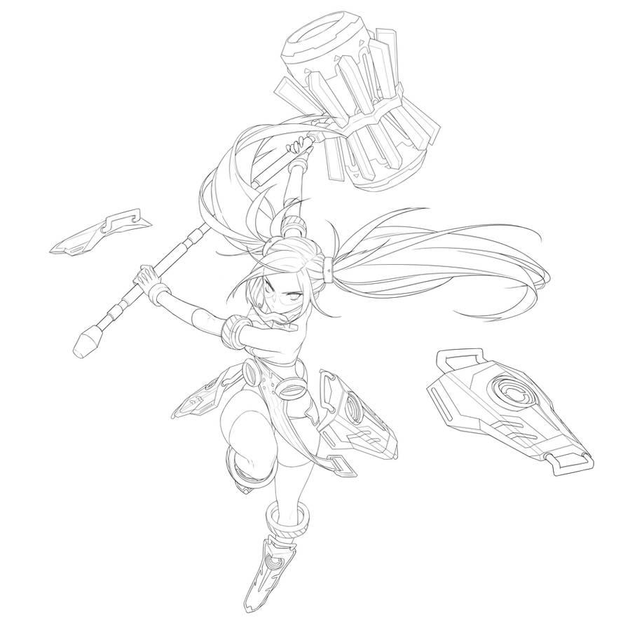 Smashing the Battle Marie Lucy Fan Art by Haje714