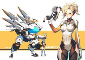 D.va Mercy!! by Haje714