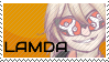 Lamda stamp by TheAngelBox