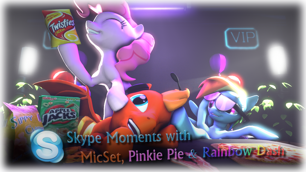 Skype moments with MicSet, Rainbow Dash And Pinkie by Dragon-V0942