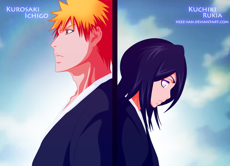 .: Ichigo and Rukia :. by Tsukineesan on DeviantArt