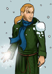 Snowball Fight by elethe