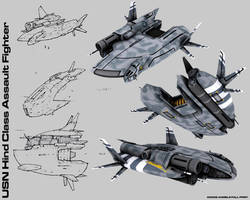 USN Hind Class Assault Craft by KrisWood