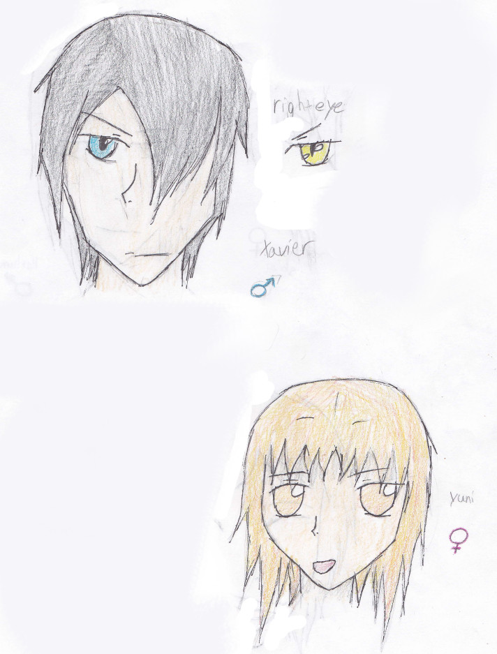 My Oc:Antagonists Colored  Oc__xavier_and_yuni_by_carlyboo11-d3cqjpl