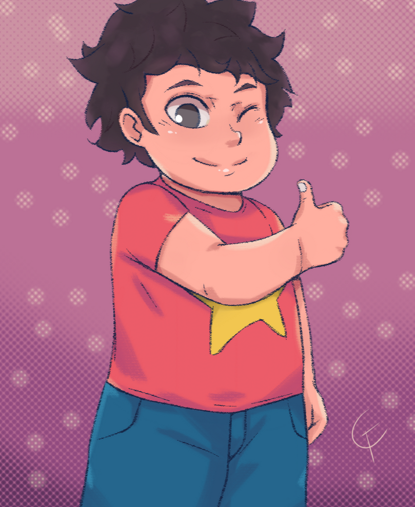 My version of the protagonist of the show Steven Universe , starring..... Steven..Universe (: Progress Gif: fav.me/dclja8k