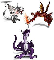 Chibi Monster Hunter- Fatalis by DarkmaneTheWerewolf