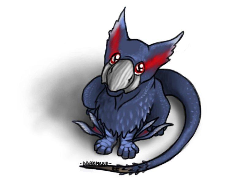 Chibi Monster Hunter- Naruga by DarkmaneTheWerewolf